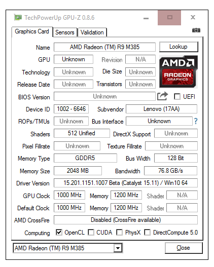 AMD FX-8800P AMD RADEON R7 WINDOWS DRIVER