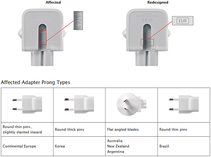 Apple Recalls Quot Duckhead Quot Power Adapters For Select Mac