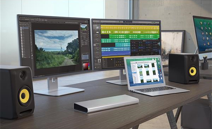 how to set up projector with mac with thunderbolt