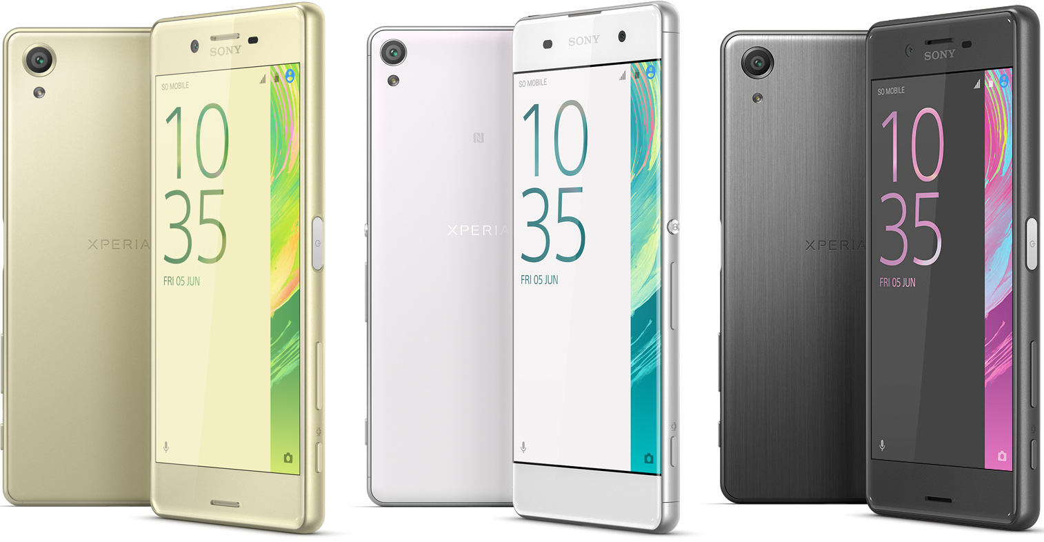 sony unveils new xperia x smartphones. Black Bedroom Furniture Sets. Home Design Ideas