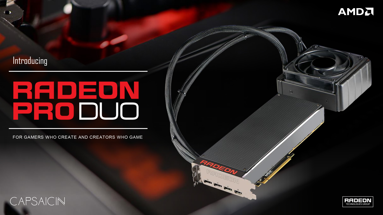 AMD Announces Radeon Pro Duo: Dual GPU Fiji Video Card For
