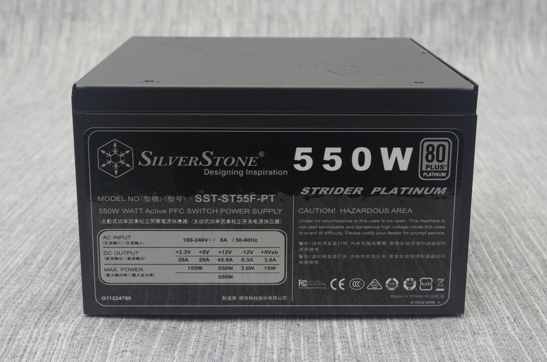 the silverstone strider platinum 550w psu the silverstone strider rh anandtech com