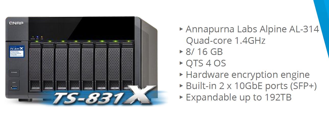 QNAP Expands Thunderbolt NAS / DAS Lineup with TVS-x82T Series