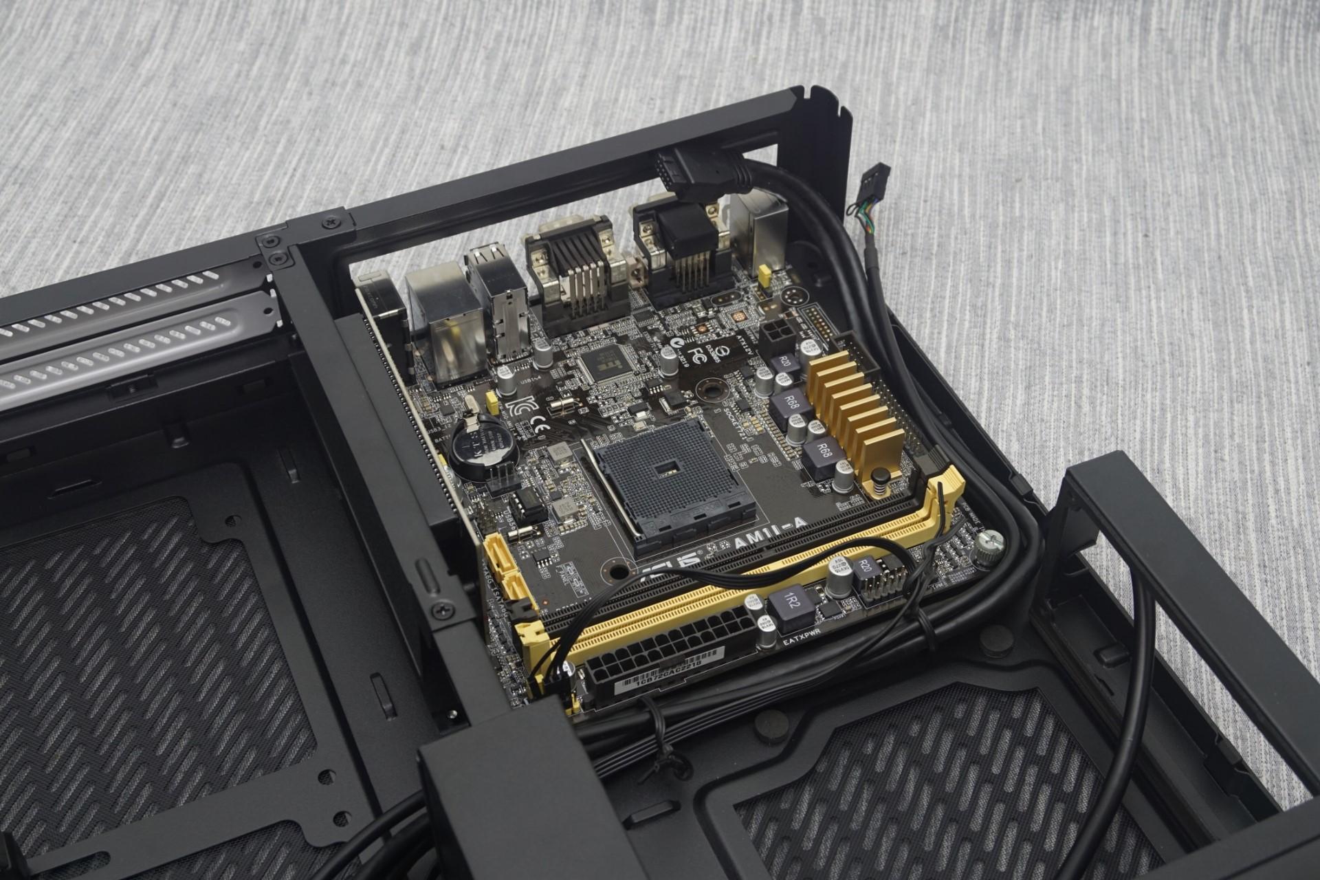 The Interior of the Fractal Design Node 202 - The Fractal Design Node 202 Case Review: Mini-ITX ...