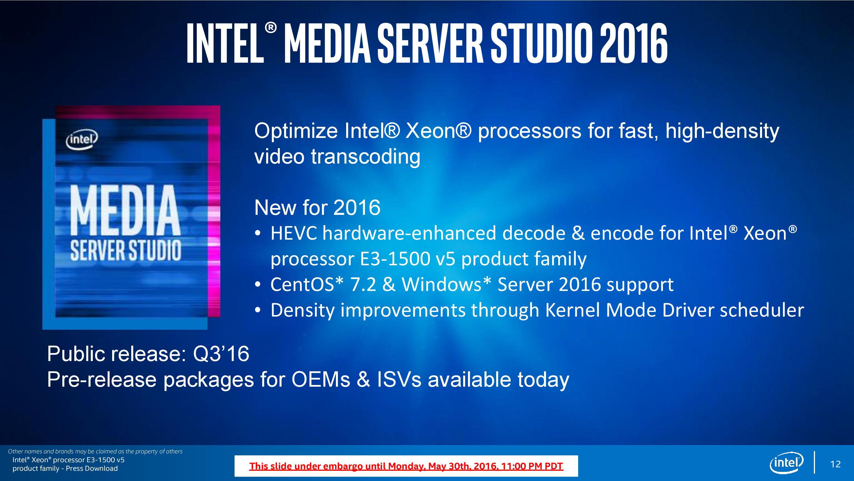 Intel Announces Xeon E3-1500 v5: Iris Pro and eDRAM for