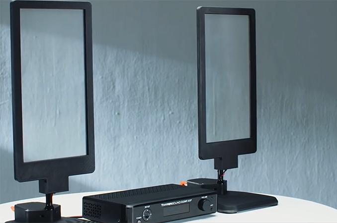 Turtle Beach Demos Hypersound Glass Transparent Speakers