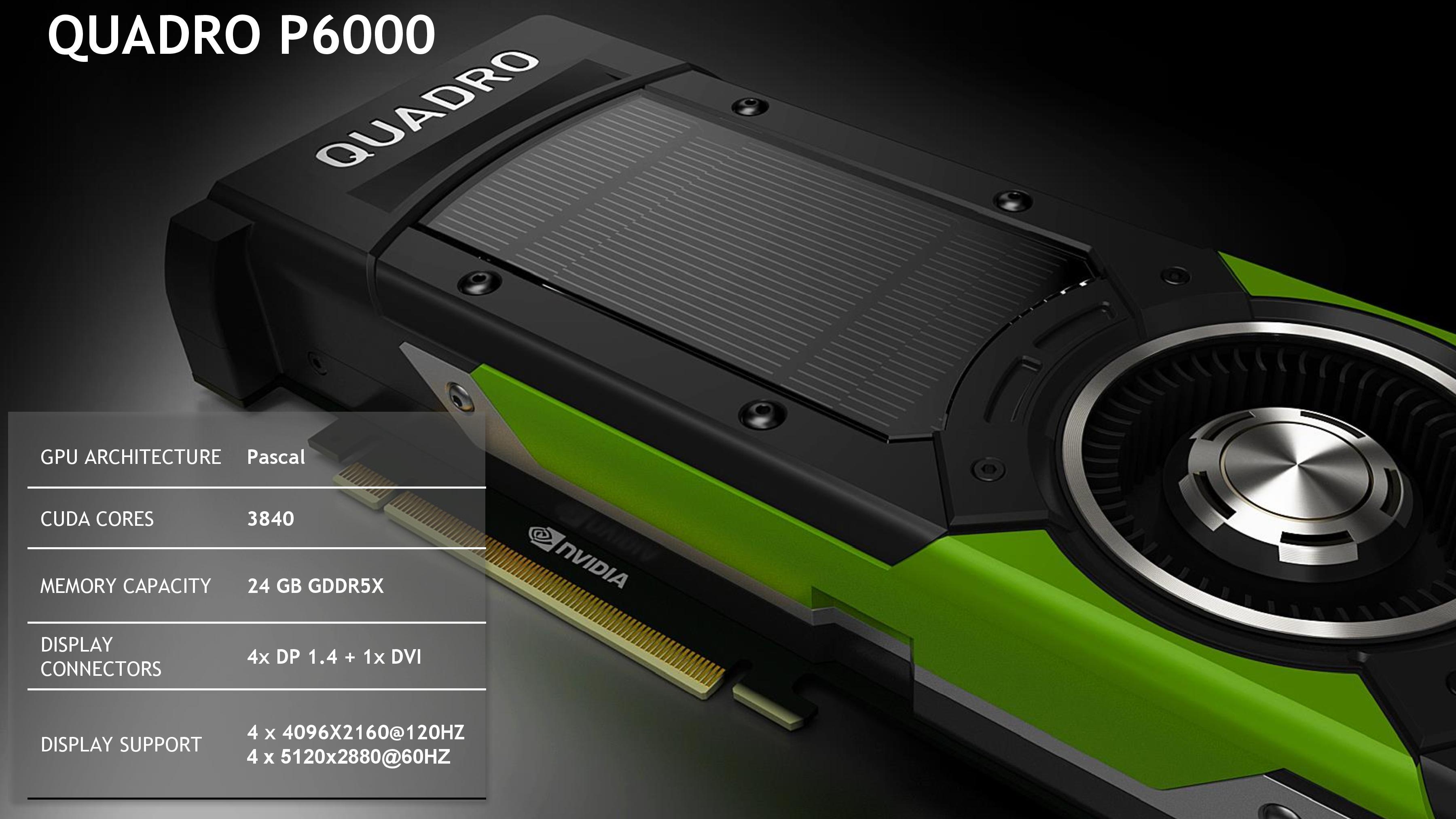 NVIDIA Announces Quadro Pascal Family: Quadro P6000 & P5000