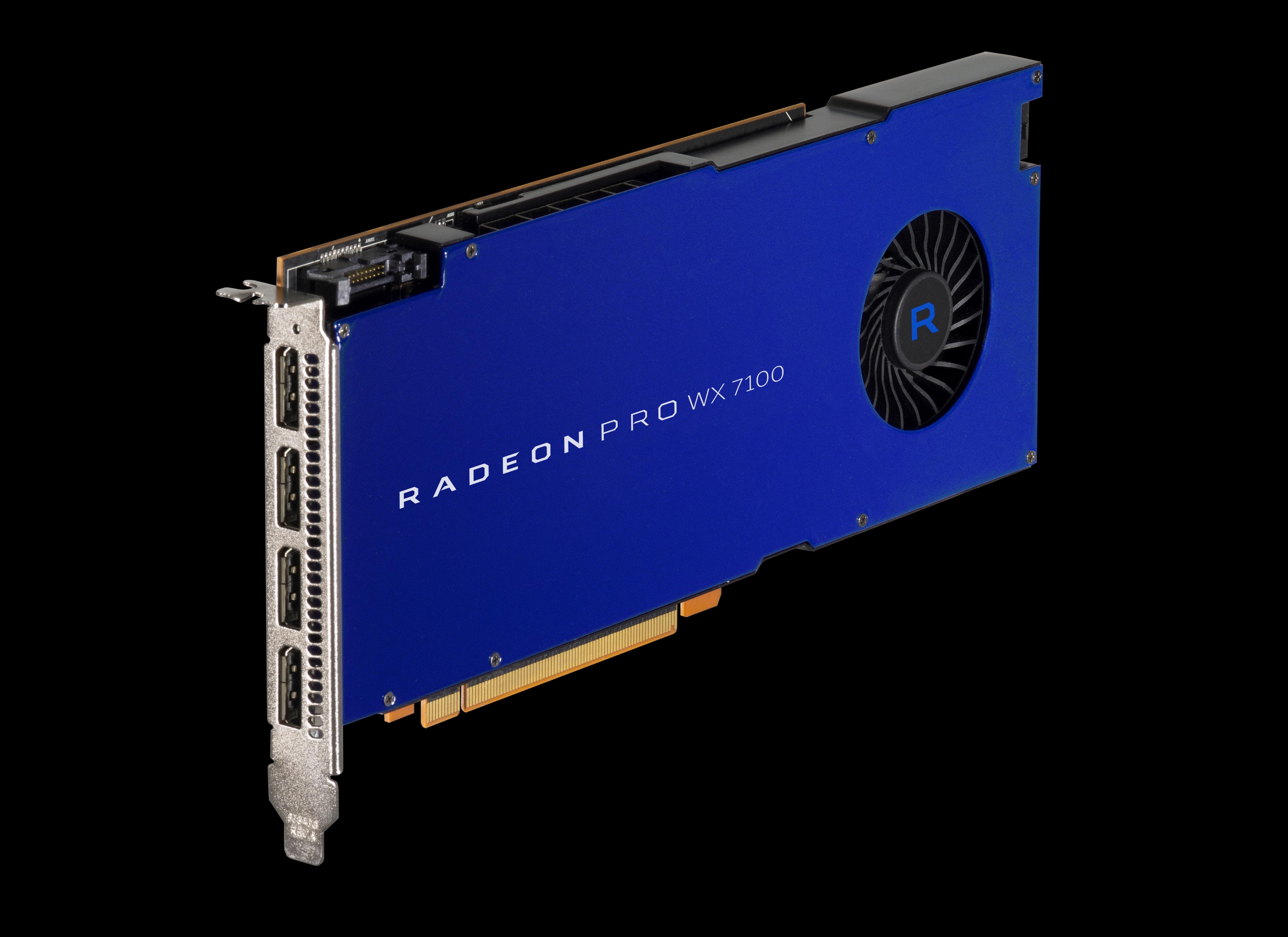 AMD Announces Radeon Pro WX Series: WX 4100, WX 5100, & WX 7100