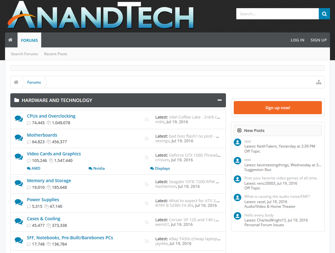 This Weekend's AnandTech Forums Upgrade