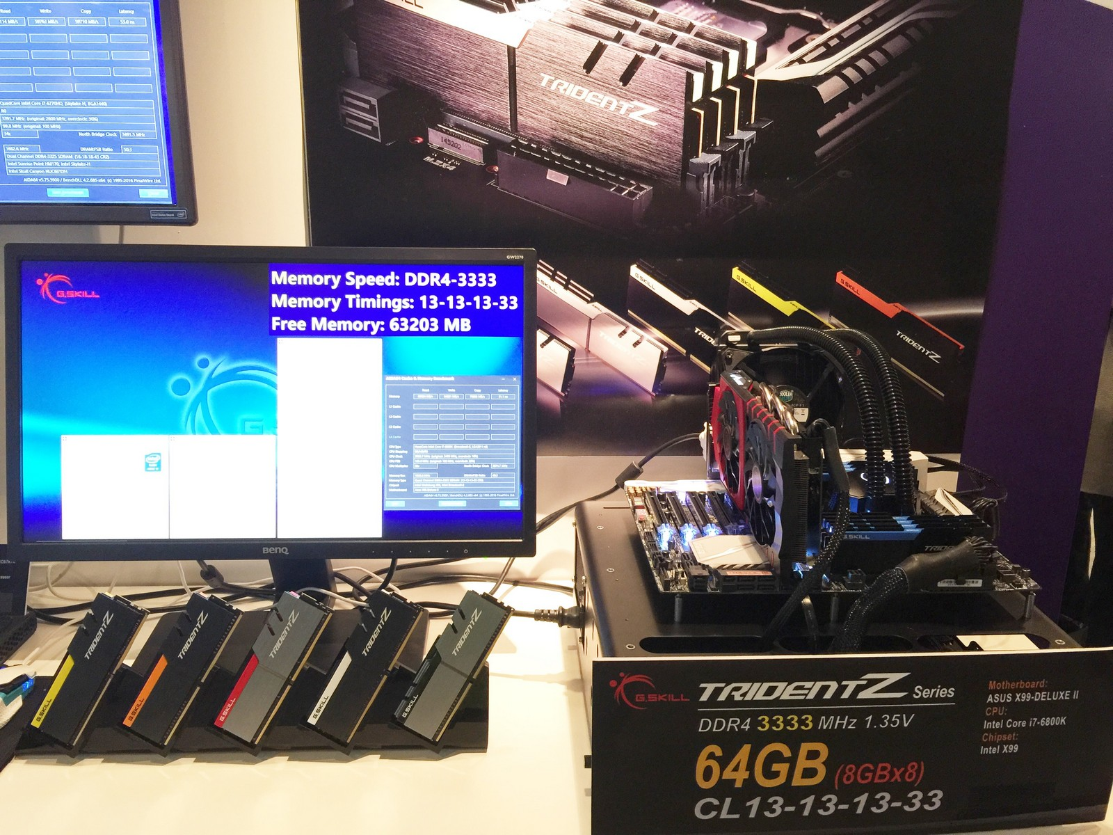 G Skill Shows Off Trident Z 8x8 GB and 8x16 DDR4-3333 Memory