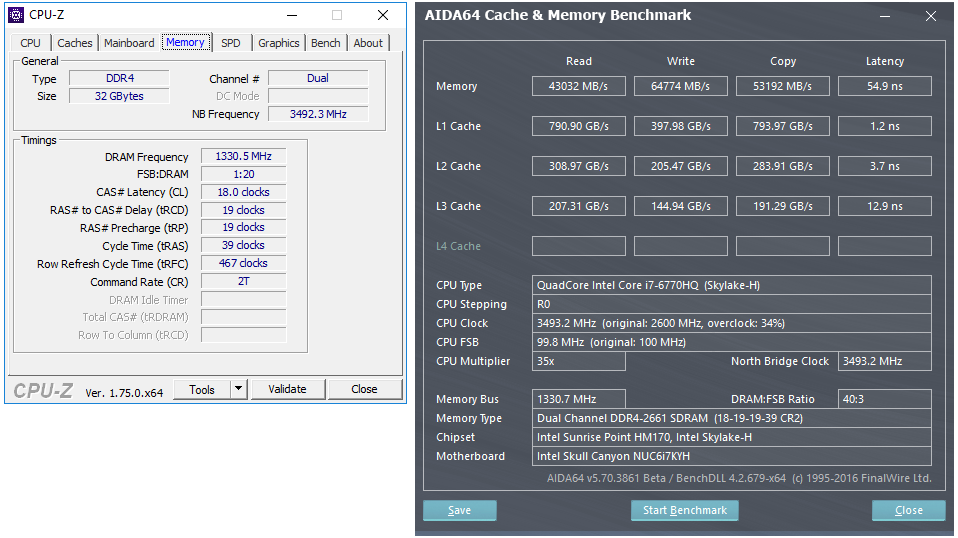 Premium DRAM Options for the Skull Canyon NUC - Memory Frequency