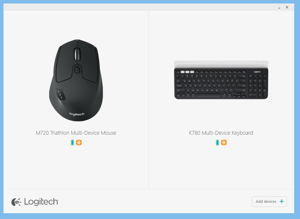 Logitech Multi-Device K780 Keyboard and M720 Triathlon Mouse