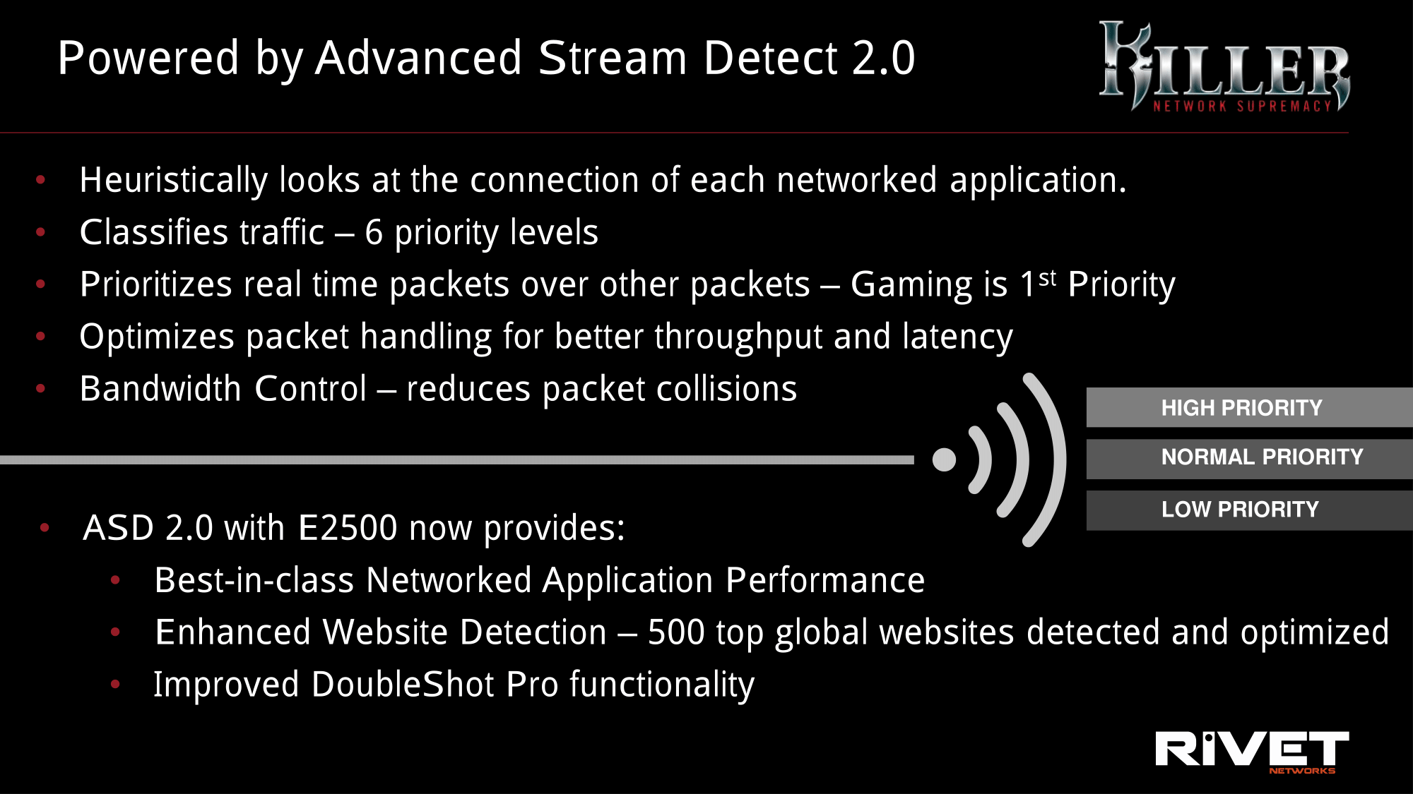 E2500%20Press%20Deck-06 Rivet Networks Launches the Killer E2500 Community Controller: Internet site Detection, New UI