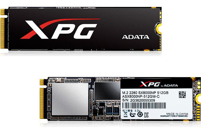 ADATA Launches XPG SX8000: High-End M 2 NVMe SSD Featuring