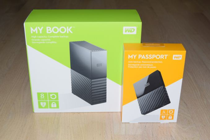 Western Digital My Book 8TB and My Passport 4TB External HDDs