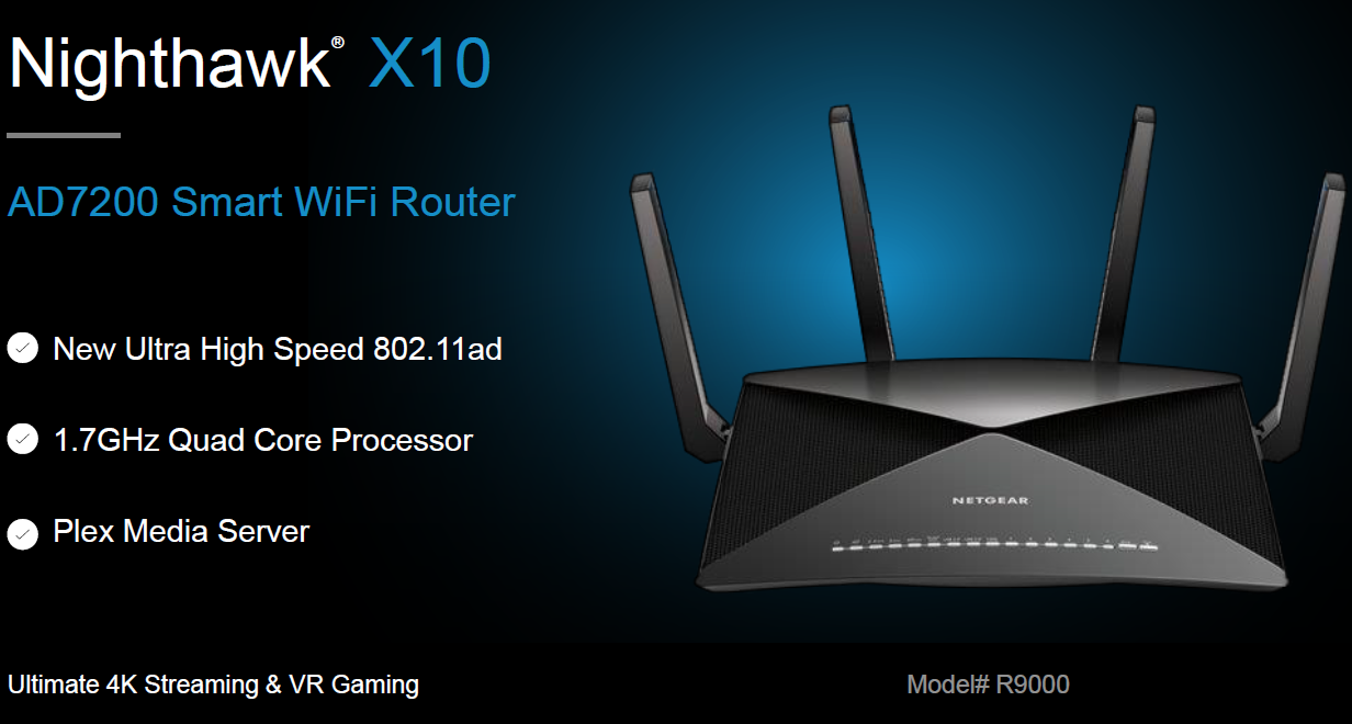 Netgear Launches 80211ad Enabled Nighthawk X10 R9000 Wi Fi Router 3 Way Switch Diagram