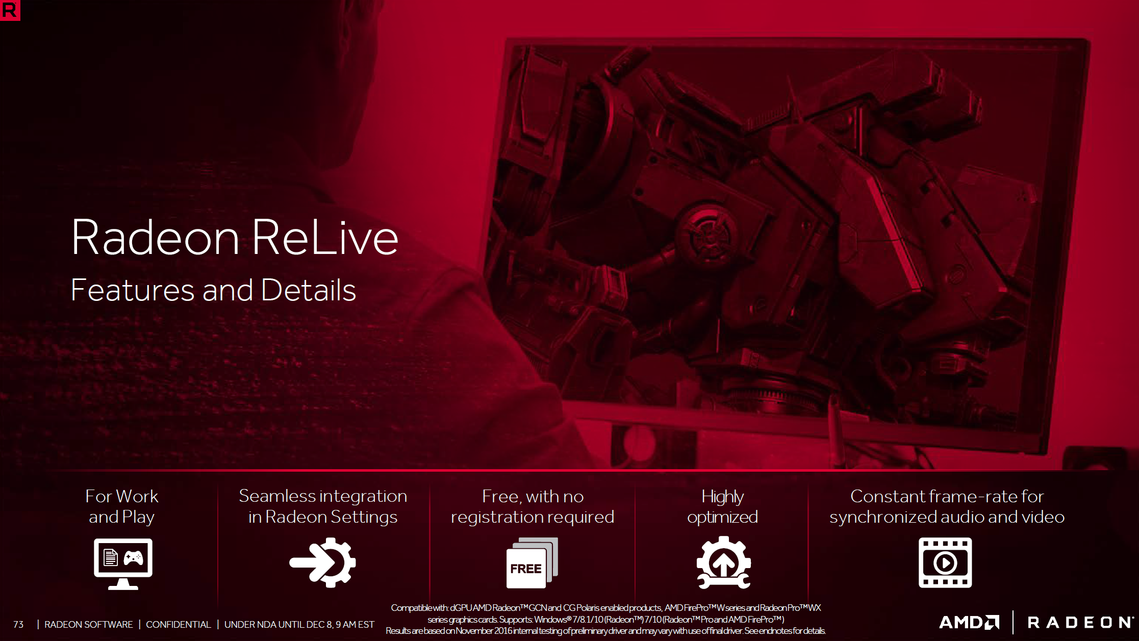 ReLive New Features (4): Game and Pro DVR for Streaming