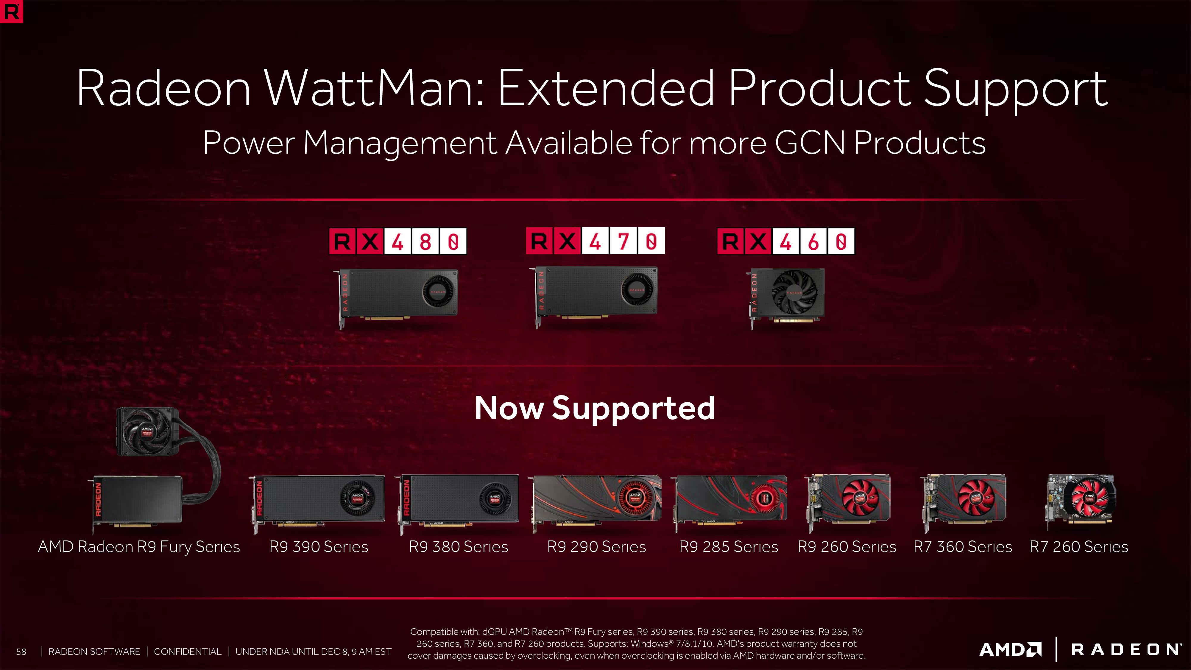 ReLive New Features (3): Radeon Chill, WattMan Extended