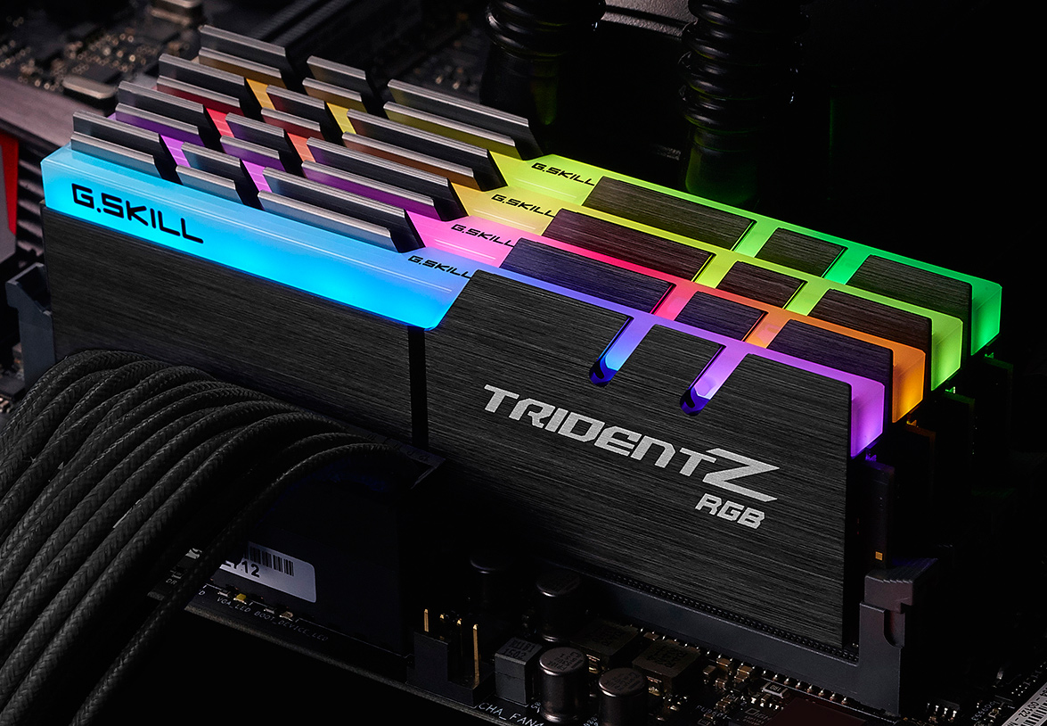 G Skill Announces Trident Z Rgb Illumination To Ddr4