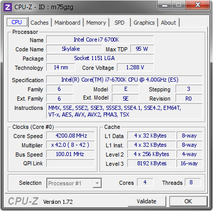 Intel i7-7700K Quad Core 4.2GHz LGA1151 HD 630 8MB Intel HD Graphics Cache 91W TDP CPU Processor Refurbished