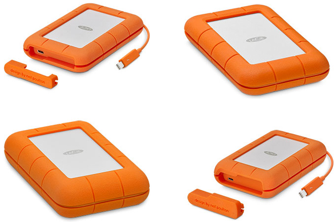 The Lacie Rugged Thunderbolt Usb C 500 Gb To 5 Tb Capacity Tb3 Compatibility