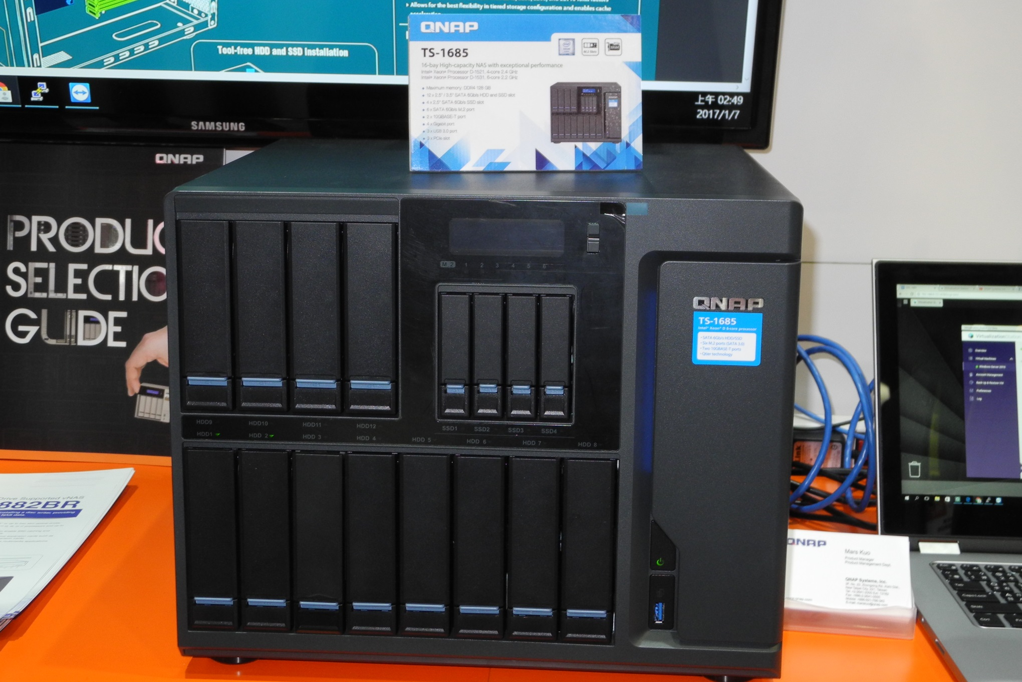 QNAP at CES 2017 - Thunderbolt 3 and Xeon D NAS Units, Residential