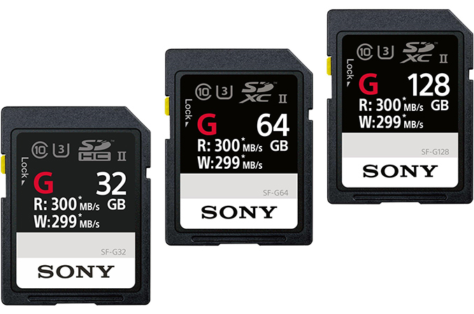 738d6e62d0b Sony Announces SF-G UHS-II SD Cards  Up to Nearly 300 MB s Read Write  Performance
