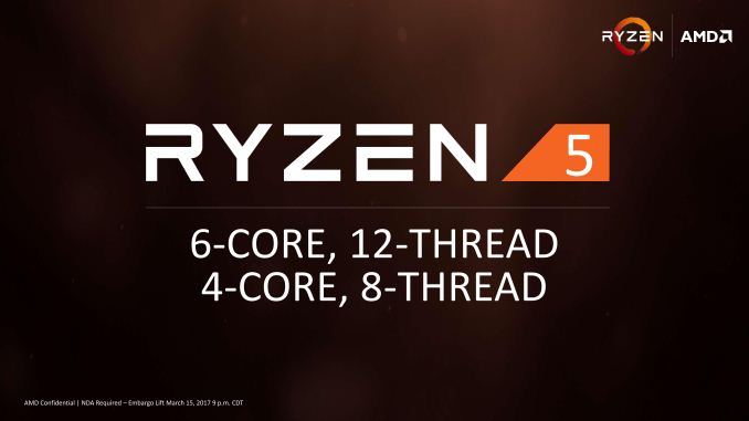 AMD Announces Ryzen 5 Lineup: Hex-Core from $219, Available
