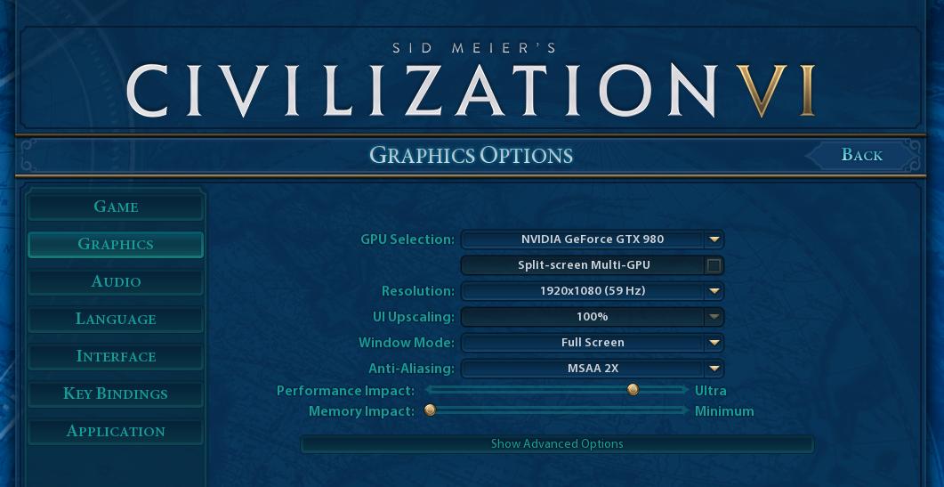 GPU Tests: Civilization 6 DX12 (1080p, 4K) - The AMD Ryzen 5