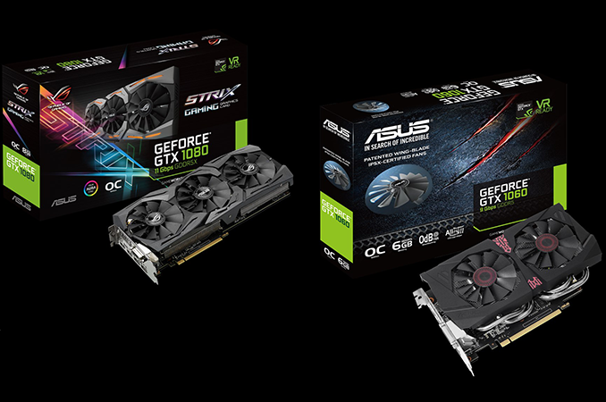 ASUS Launches GeForce GTX 1080 & GTX 1060 Models With Faster RAM
