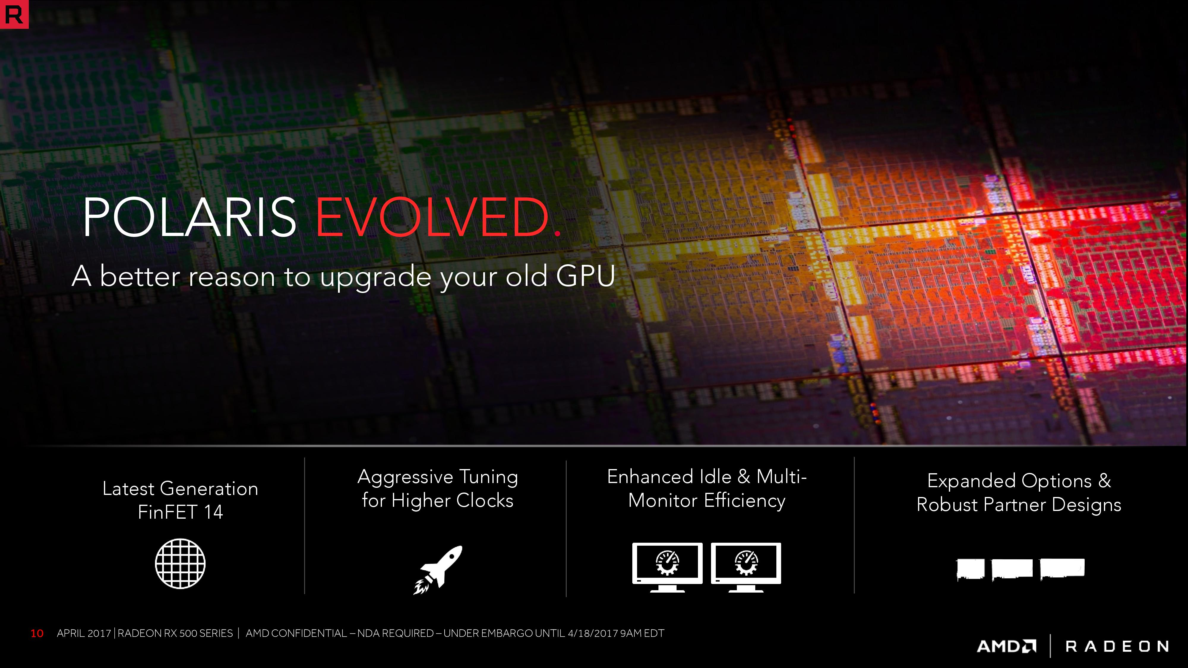 AMD Announces the Radeon RX 500 Series: Polaris Refreshed