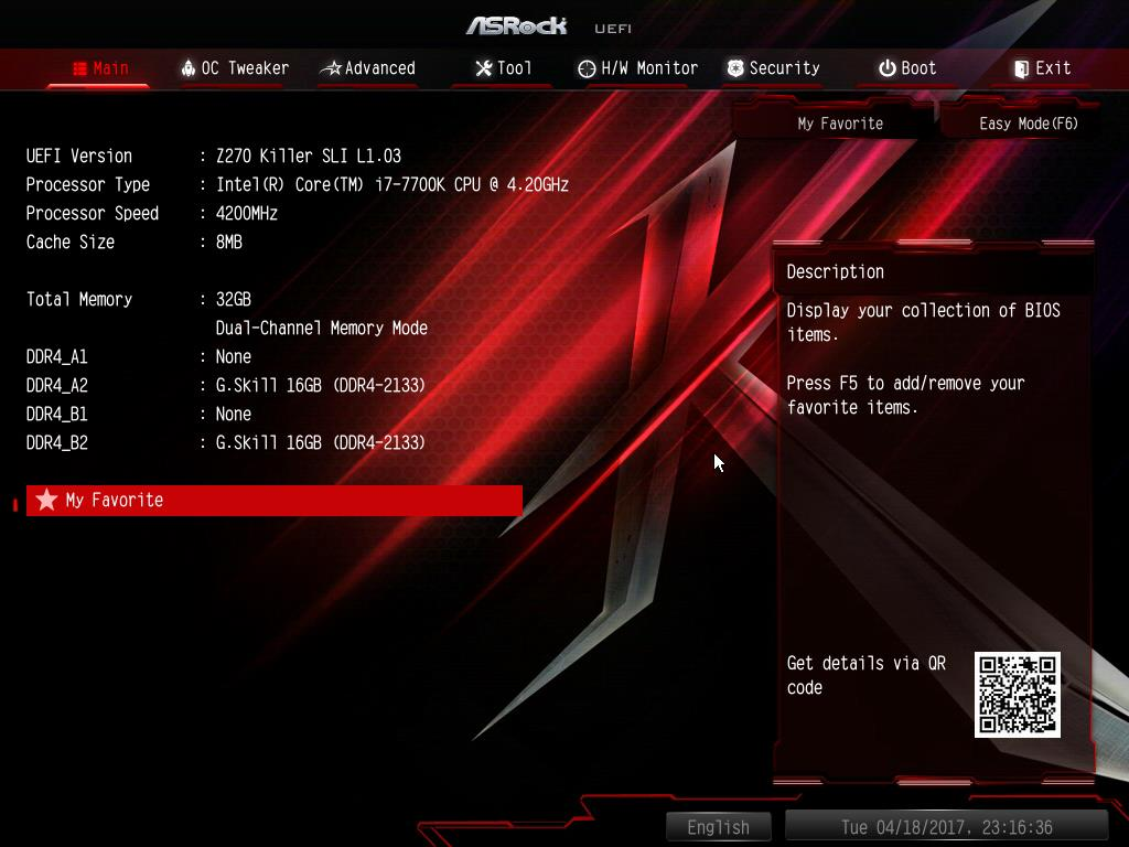 ASRock Z270 Killer SLI BIOS & Software - Kaby Lake Motherboards at