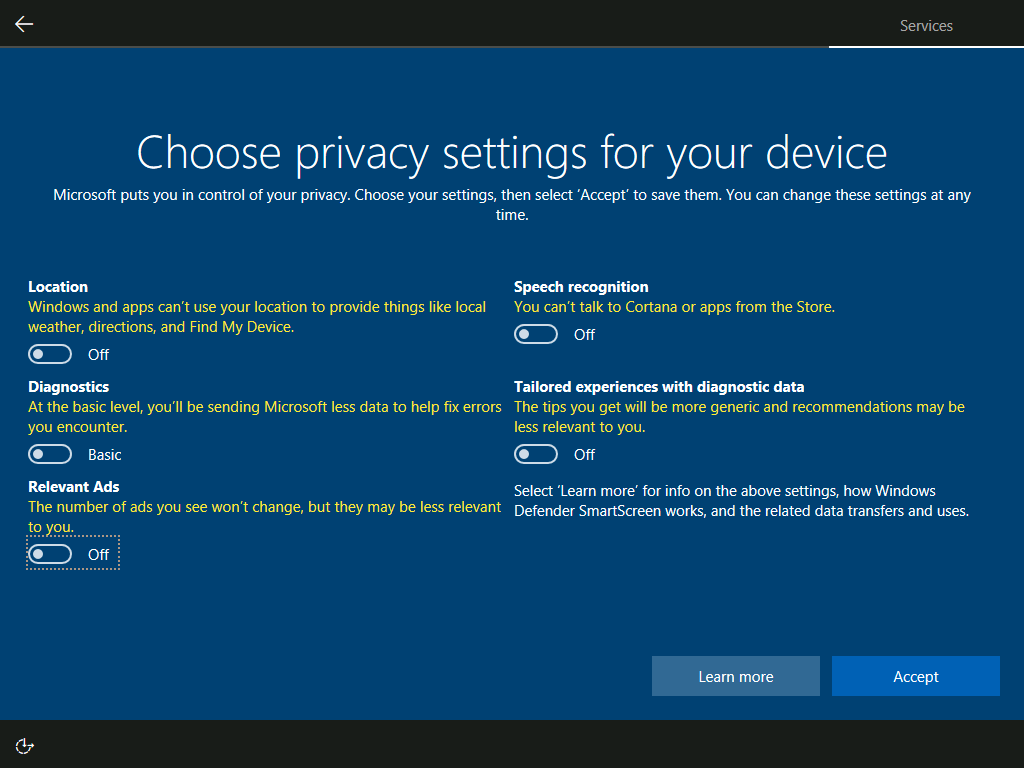 Privacy Changes, OOBE, and App Installs - The Windows 10 Creators