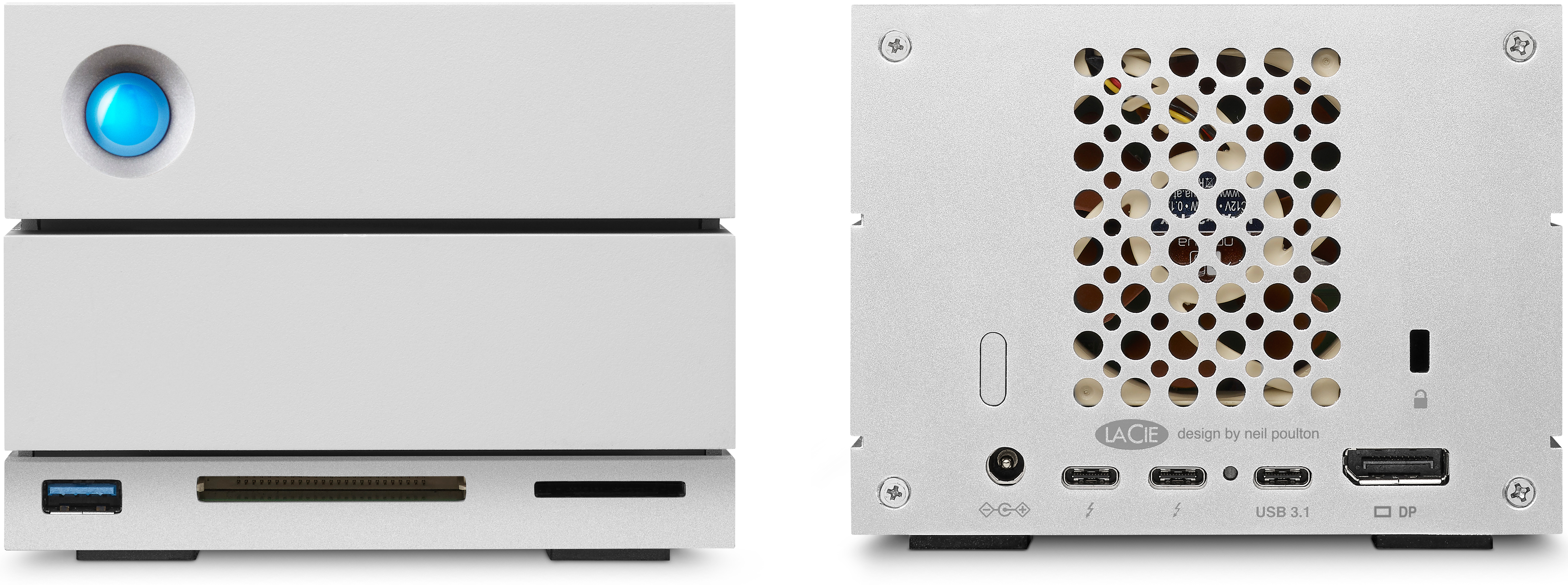 Lacie Announces 2big Dock 2 Bay Tb3 Das With Card Reader