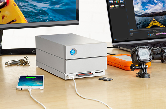LaCie Announces 2big Dock: 2-Bay TB3 DAS with Card Reader, USB-A and