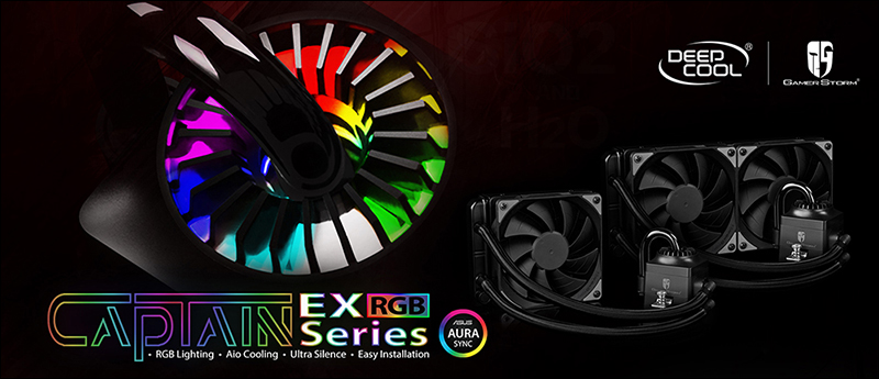 Deepcool Launches Captain EX RGB CPU Coolers with LED Lighting