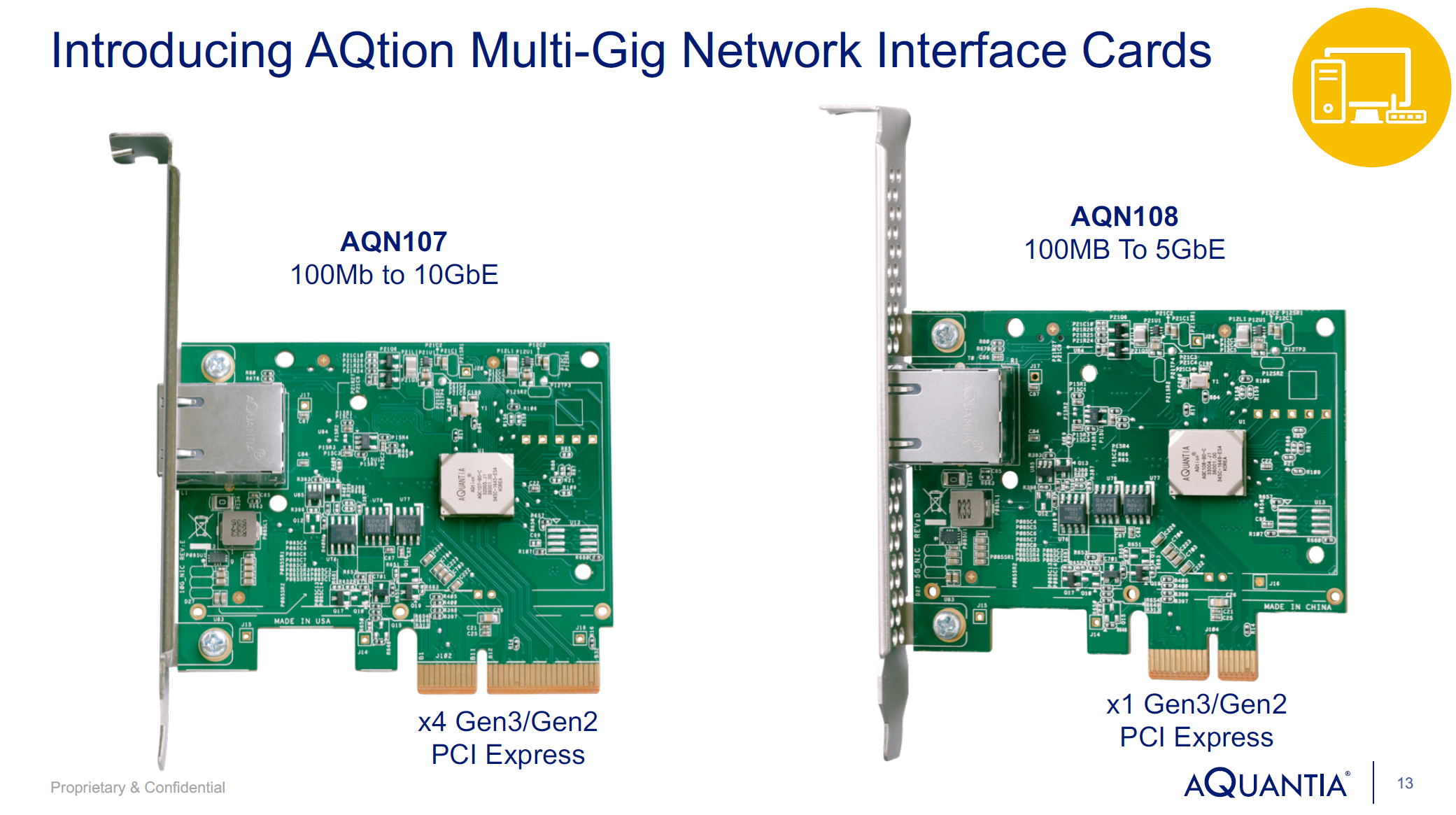 Aquantia Launch AQtion 5G/2 5G/1G Multi-Gigabit Ethernet