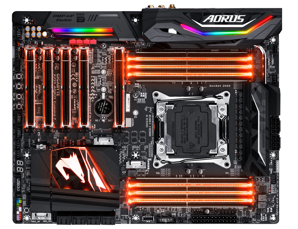 GIGABYTE Launches Aorus X299 Motherboards: X299-Gaming 3, Gaming 7 and Gaming 9