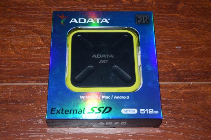 USB3.1 Interface 1TB AData SD700 Durable External SSD Black
