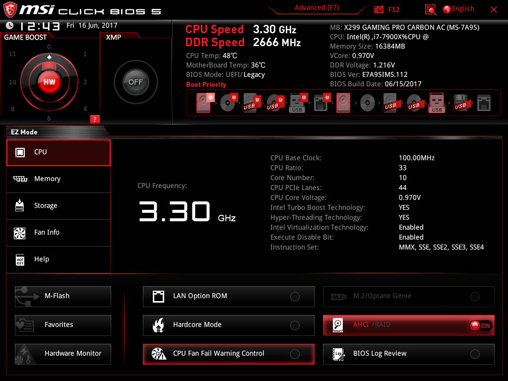 Bios The Msi X299 Gaming Pro Carbon Ac Motherboard Review Messages For Friends Images Diagram Of A With Labels We Still Have Clickbios Nomenclature But This At First Glance Looks Like Nice Easy Mode Gets Plus Points System Information On Screen