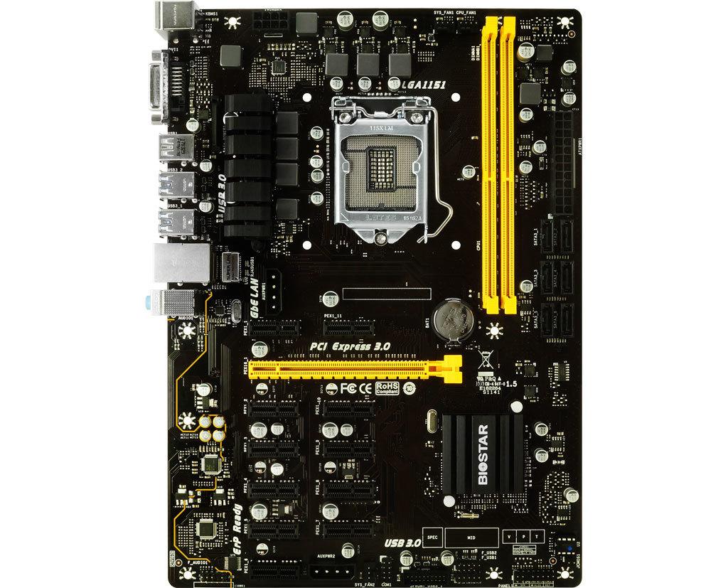 Intel Mining Motherboard 13 Slot ASRock H110 Pro BTC
