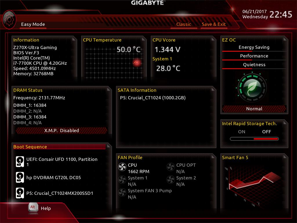 GIGABYTE Z270X Ultra Gaming BIOS & Software - The Asus Prime