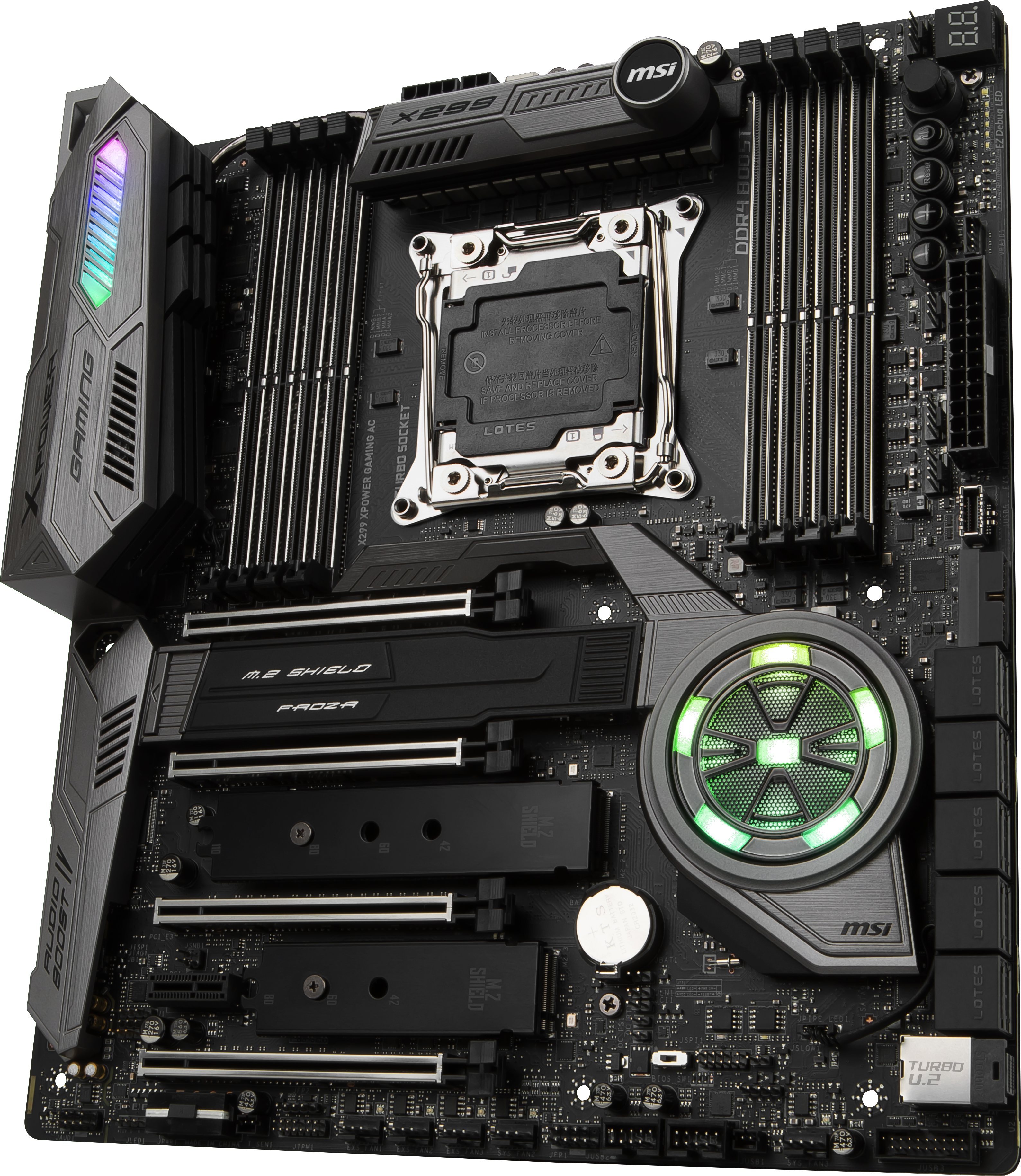 Msi Announces The X299 Xpower Gaming Ac Motherboard Five M 2 Slots