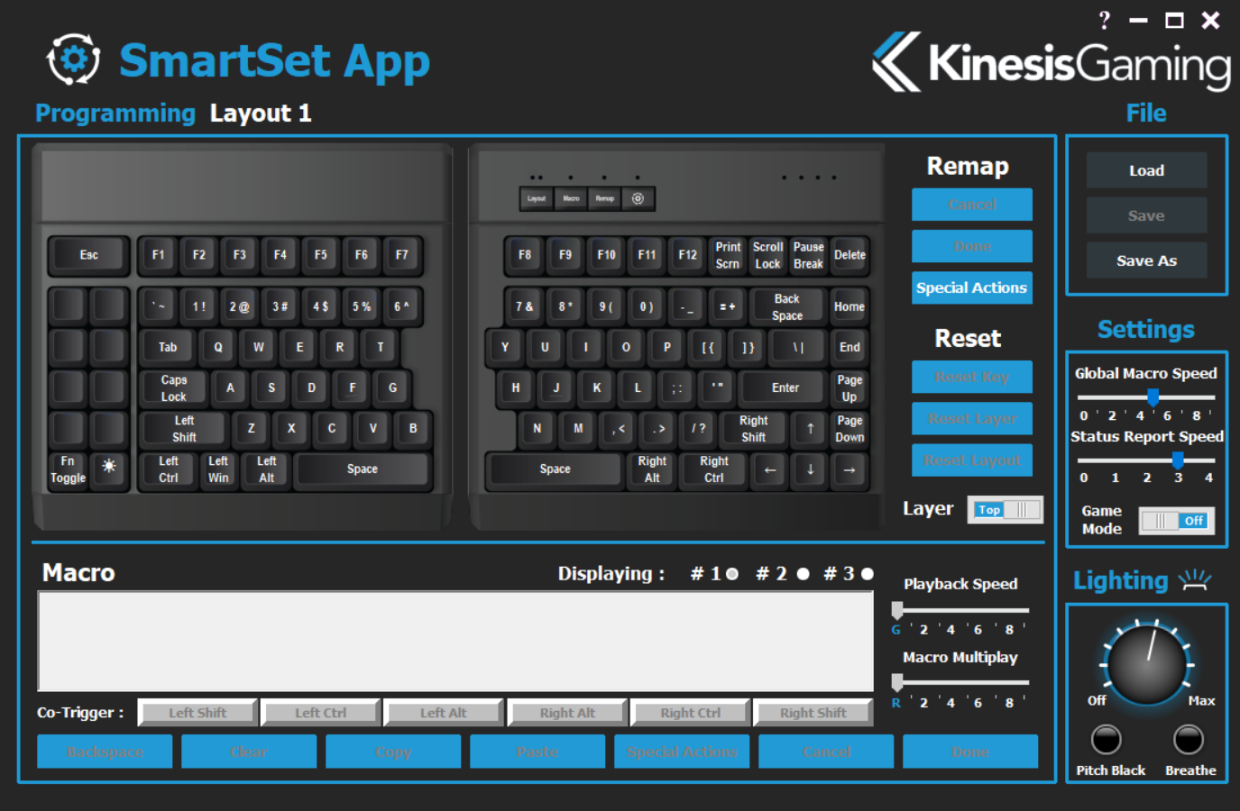 The KinesisGaming SmartSet App - The Kinesis Freestyle Edge Gaming