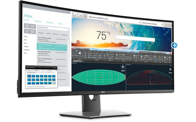 """Dell's UltraSharp U3818DW Now Available: Curved 37 5"""", 3840"""