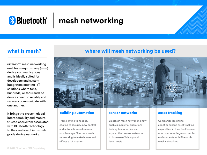 Bluetooth SIG Announces Bluetooth Mesh for Large-Scale ...