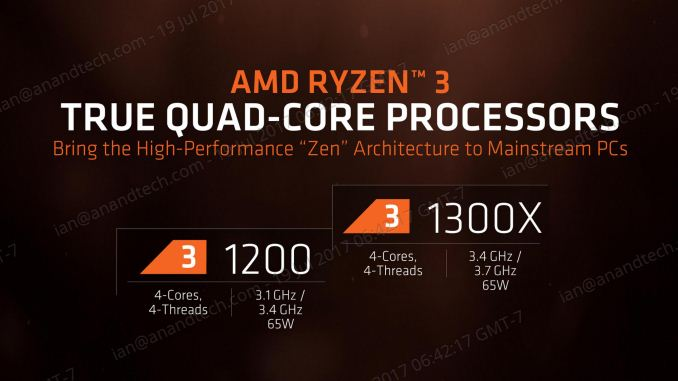 The AMD Ryzen 3 1300X and Ryzen 3 1200 CPU Review: Zen on a Budget