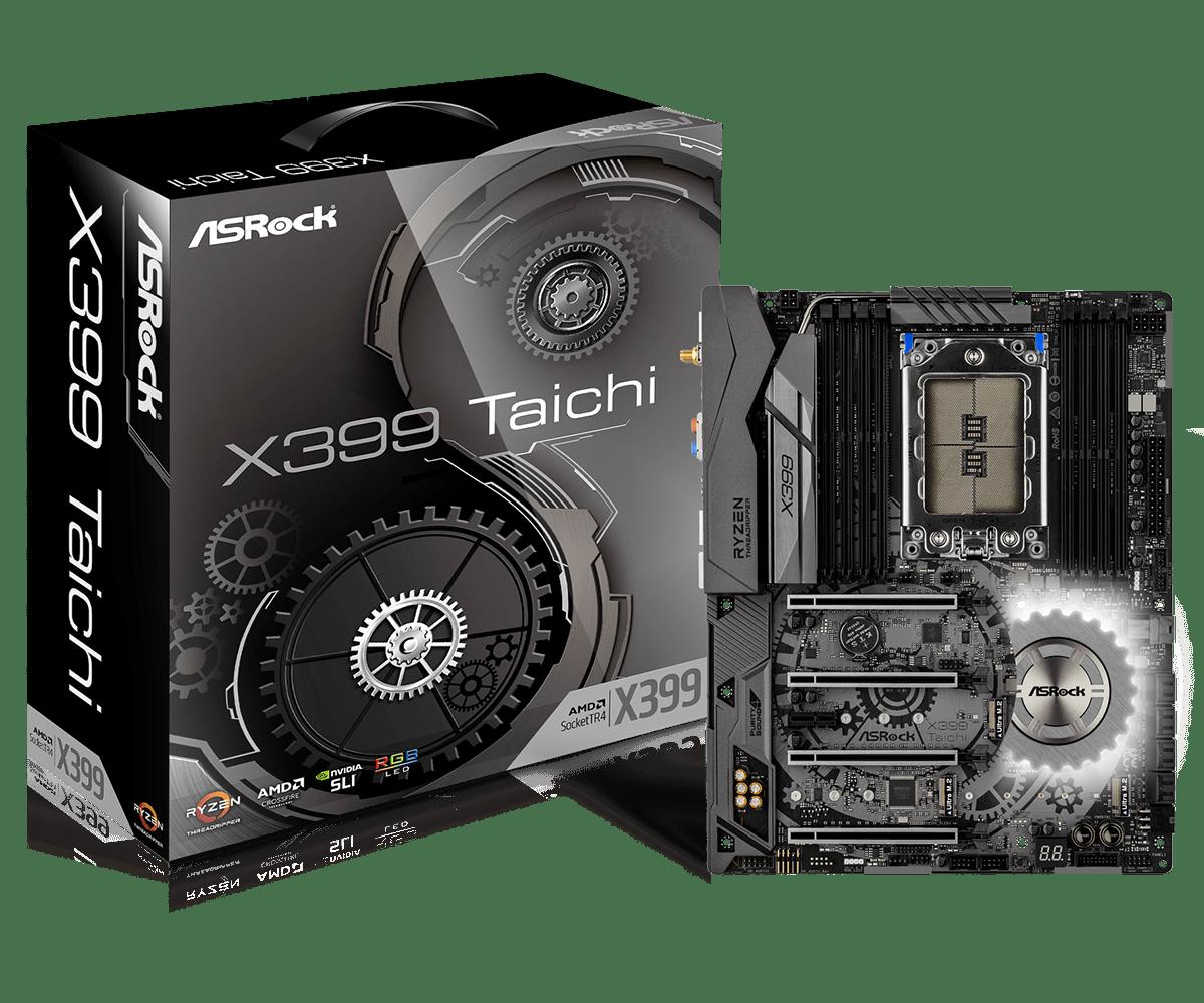 asrock x399 taichi an amd threadripper x399 motherboard overview