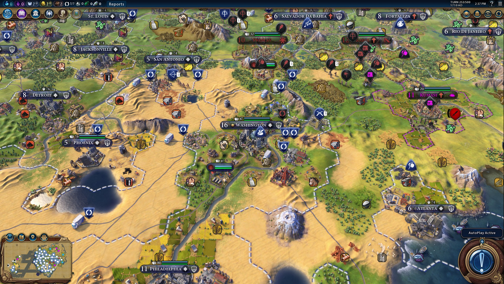 CPU Gaming Performance: Civilization 6 (1080p, 4K, 8K, 16K