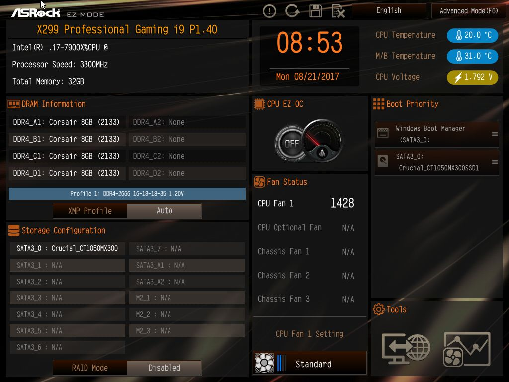 BIOS and Software - The ASRock Fatal1ty X299 Professional